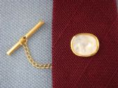 Mother of Pearl Tie Pin marked Ascot, Germany (SOLD)